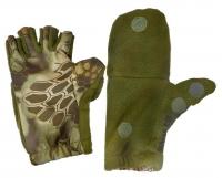 Перчатки рыбацкие с пал. Рептилия (олива) L