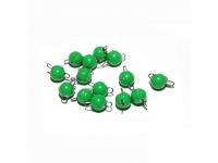 Крашенная разборная чебурашка 7,0 г зеленый цвет (50 шт)