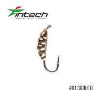 Intech Ice Jig Личинка с петелькой L 5.0 (# 01 золото)