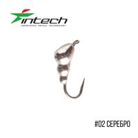 Intech Ice Jig Муравей с петелькой d 4.0  (# 02 серебро)