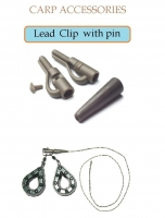 Leed Clip with pin (с фиксирующим штифтом и концевиком)  5 шт.Х 10 цвет зеленый