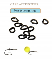 Pear type rig ring №1(треугольное) 2.7x3.5x0.45mm Matt Black 20 шт.х10