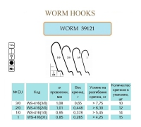 WORM 39121 #1/0 NI 14 шт. Х 10 (офсет, эконом класс)