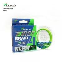 Шнур плетеный Intech First Braid X4 Green 100m