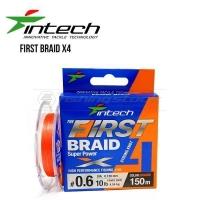 Шнур плетеный Intech First Braid X4 Orange 150m