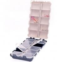 Коробка Fishing ROI двойная 20 ячеек с крышками